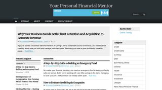 Guest Post on Your Personal Financial M