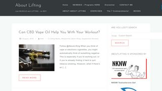 Guest Post on Aboutlifting
