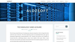 Guest Post on Aldsoft