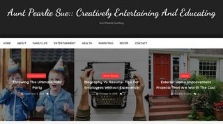 Guest Post on Aunt Pearlie Sue:: Creati