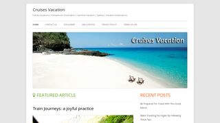 Guest Post on Cruises Vacation ? Family