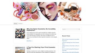 Guest Post on Cosmetics Producs