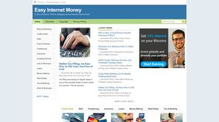 Guest Post on Easy Internet Money and B