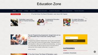 Guest Post on Education Zone