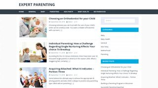 Guest Post on Expert Parenting