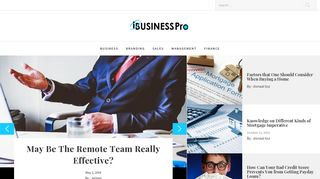 Guest Post on I Business Pro ? Business