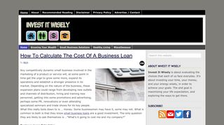 Guest Post on Investitwisely