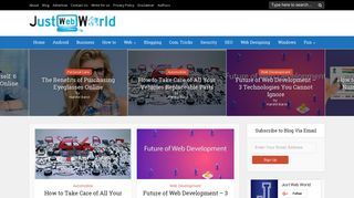 Guest Post on Just Web World (JWW) - In