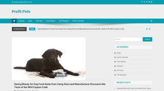 Guest Post on Profit Pets