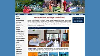 Guest Post on Vanuatu Resorts   Vanuatu