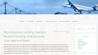 Guest Post on Specialists Finance