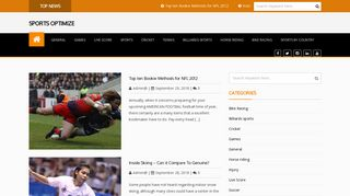 Guest Post on Sports Optimize