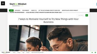 Guest Post on Startupmindset