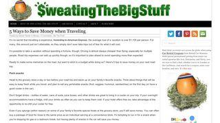 Guest Post on Sweatingthebigstuff