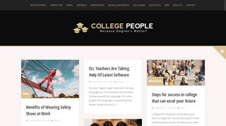 Guest Post on The College People