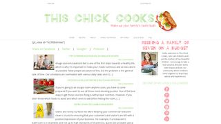 Guest Post on THIS CHICK COOKS ? Wake u
