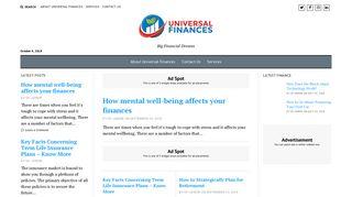 Guest Post on Universal Finances