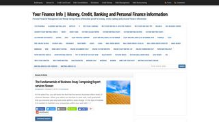 Guest Post on Your Finance Info